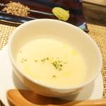 神戸ステーキレストラン モーリヤ凜 - ひよこ豆スープ