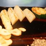 神戸ステーキレストラン モーリヤ凜 - フランス産アスパラ、ズッキーニ