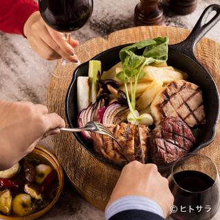 肉も野菜も、旨い&新鮮な信州産。名物「信州サーモン」も!