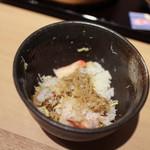 北陸 福井県敦賀港直送 海鮮びすとろ ますよね - 5杯目は蟹味噌を味わって☆