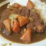 定食酒場食堂 - カツカレー(日替わり定食) 288円、ご飯と味噌汁のお代わりはセルフで無料になります
