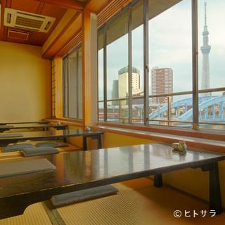 隅田川と東京スカイツリーを望める絶好のロケーション