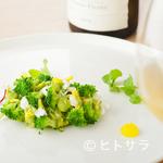 meli melo - 酸味と香りの爽やかな前菜『アボガド 毛ガニ ブロッコリー』