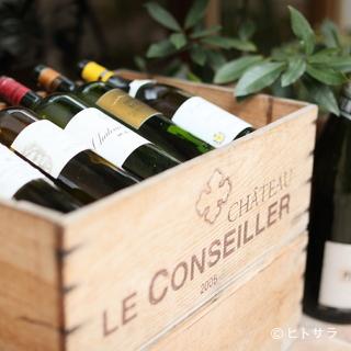 ワインはグラス500円〜美味しい料理と共にもう一杯いかが