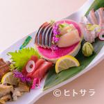 旬彩 杉たに - その日に仕入れた新鮮な旬魚を楽しめる『刺身五種盛り』