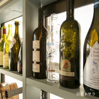 ワインは全てイタリア産。料理に合う1本がきっと見つかる