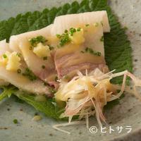 鮨 おさむ - 九州の食文化を継承する逸品『ミンククジラのうねす』