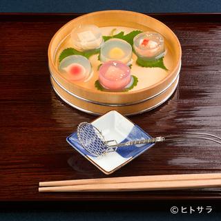 四季折々の一番旬の食材を、日本各地から吟味して取り寄せる