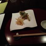 夏の家 - ノレソレの天ぷら+山菜天