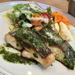 66109827 - 白身魚のソテー ジェノバソース