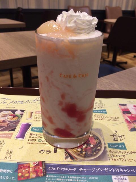 カフェ・ド・クリエ - 白桃ソルベージュ ¥460