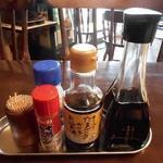 喜三郎農場 - 卓上の調味料
