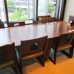 和食・酒亭 神田さくま - 窓際の個室。