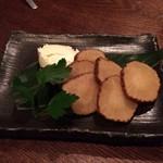 地酒×熟成豚 十米 - いぶりがっこクリームチーズ」