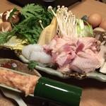 地鶏専門個室居酒屋 官兵衛 - 名古屋コーチンの豪華すきやき ~日本三大地鶏・名古屋コーチンと自家製つくねを贅沢に~