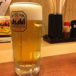 新橋やきとん - ドリンク写真:生ビール(18時まで1杯0円)