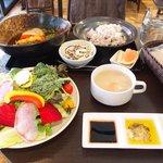 スープカレーと季節野菜ダイニング 彩 - 彩スープカレー&野菜ビュッフェセット 1500円 → 1000円 の彩スープカレー