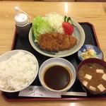 大須食堂 おおもり - 極上味噌かつ定食¥1,580