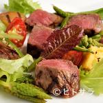 イタリア料理・ボッカボーナ - 料理写真:※要予約 「飛騨牛もも肉のタリアータ 季節の野菜と一緒に」