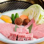 丸明 - お店おすすめの美味を詰め合わせた『A-5飛騨牛焼肉大皿』 250g