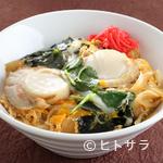 仙華園 - 大ぶりの帆立が食べ応えあり『広田湾のほたて丼(卵とじ)』