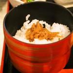 松吟庵 - 蔵王豚の角煮つけ蕎麦 定食(じゃこ飯)