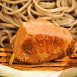 松吟庵 - 蔵王豚の角煮つけ蕎麦 定食(蔵王豚の角煮)
