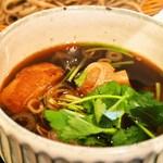 松吟庵 - 蔵王豚の角煮つけ蕎麦 定食(つけ汁)