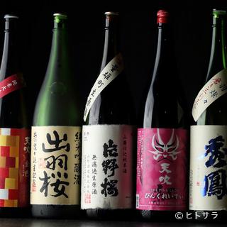 アルコール類は料理人がお勧めの日本酒にも力を入れている