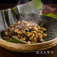 蓮香 - 漬物の滋味深い味わいで大豆の甘みが際立つ『発芽大豆ささげ漬物挽肉の炒め』