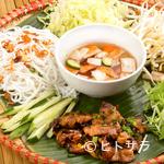 HANOI CORNER DINING BAR - しっかりした味の豚肉とビーフンが絶妙なバランスの『ハノイ風豚焼き肉のせビーフン』