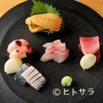 味感 ことほぎ - 地元産だけでなく、金沢の台所「近江町市場」の鮮魚も厳選した『盛り合わせ五種』