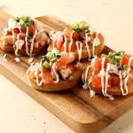 キリンガーデン - 明石タコをガーリックオリーブオイルとトマトで仕上げました。