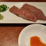 Ittetsu Grazie - 赤身肉炙り寿司 @324×2