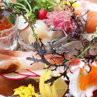 新鮮な魚介が持つ『うまみ』を存分に味わってください♪