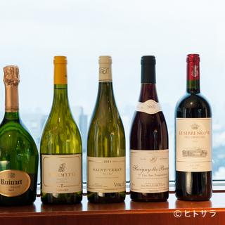 多彩な要望に応える、バランスのよい多彩なワインを揃える