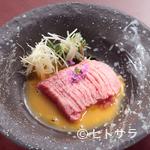 京の焼肉処 弘 - なめらかでとろける食感『特選ユッケ』