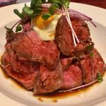 肉バル×イタリアン リトルブッチャー - ローストビーフマウンテン(980円)