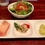 肉バル×イタリアン リトルブッチャー - ランチについてくるサラダ、オードブル