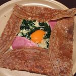 ブレッツ・カフェ・クレープリー - コンプレットエピナール(卵とハムとほうれん草)