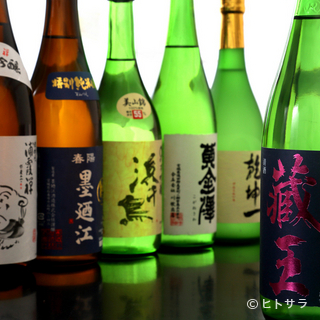 それぞれにこだわりの製法でつくられた、東北各地の地酒が勢揃い
