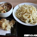 うどん 寿製麺 - 肉汁うどん(中)+ちくわ天
