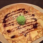 ブレッツ・カフェ・クレープリー - 黒蜜ときなこと抹茶のアイスクリーム