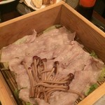地酒×熟成豚 十米 - 妻有ポーク蒸篭蒸し