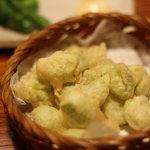 楽屋 - そら豆の天ぷら