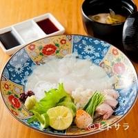 旬魚処 海蔵 - 料理人が目利きした旬な魚を提供。この日は『皮はぎうす造り』