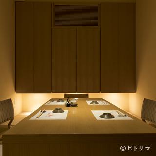 接待などの会食に利用したい、掘りごたつ式の座敷個室