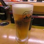 磯野漁太郎 - 生ビール 500円 (2017.4)