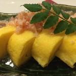鮮魚個室居酒屋 利休 - 蟹身餡掛けの玉子焼き