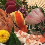 鮮魚個室居酒屋 利休 - 贅沢お刺身3点盛り